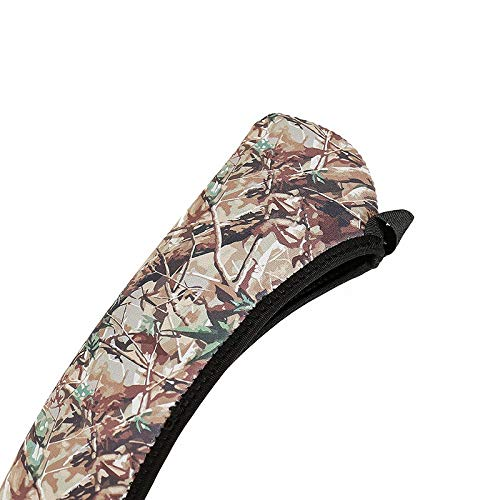 REFURBISHHOUSE Cubierta De Alcance Accesorios De Caza Camuflaje Rifle Pistola Caja De Alcance De Proteccion De Neopreno Color Negro Cazar