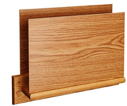 Wooden Mallet Square-Mount Open-End File Holder, HIPAA Compliant, Letter Size, Light Oak