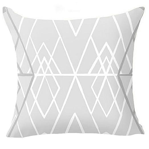 Dontdo - Funda de cojín de cintura suave, diseño geométrico con cremallera, para decoración del hogar, 5#, 45*45