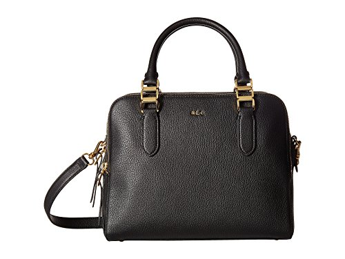 LAUREN Ralph Lauren Women's Rawson Callie Medium Satchel Black Handbag
