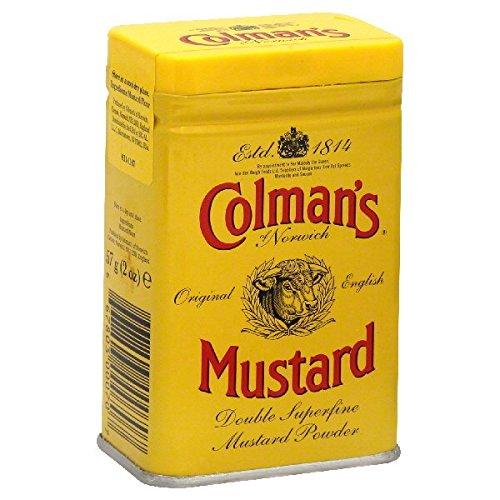 Colmans Dry Mustard Powder, (Pack of 4)