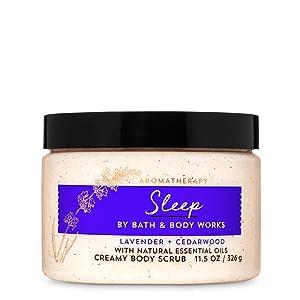 Bath & Body Works Aromatherapy Sleep Lavender Cedarwood Creamy Body Scrub with Natural Essential Oils 11.5 oz / 326 g