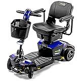 Pride Jazzy ZT ZERO TURN 4-Wheel Travel Mobility Scooters, 4-Wheel Stability Meets 3-Wheel Maneuverability (SAPPHIRE BLUE)