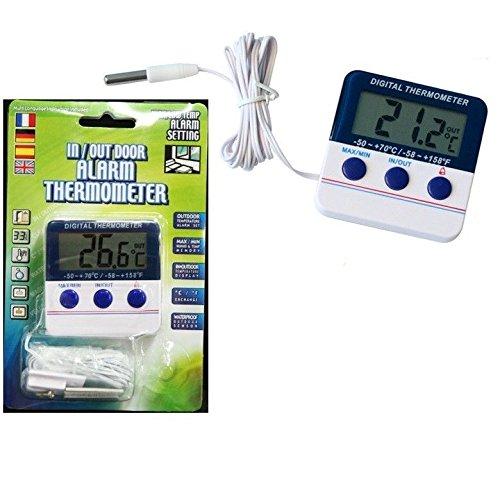 lk-144 Digital termómetro congelador termómetro de alarma en/out ...