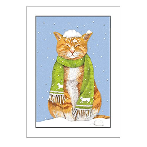 Tabby Cat in Snow Holiday Cards - 5