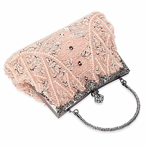 Clutch and Women's Evening Handbag Champagne Vintage Bag Beaded Sequined Wedding Purse Party qfwgzf