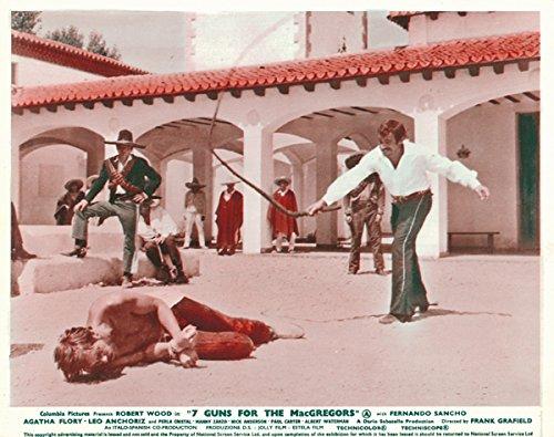 7 Guns fOR tHE mACgREGORS ORIGINAL LOBBY CARD fERNANDO sANCHO WHIPS rOBERT wOOD -  Silverscreen