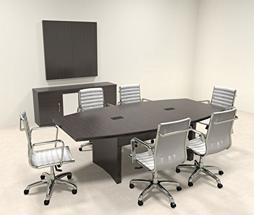 Modern Contemporary Boat Shape 8' Feet Conference Table, RO-ABD-C6