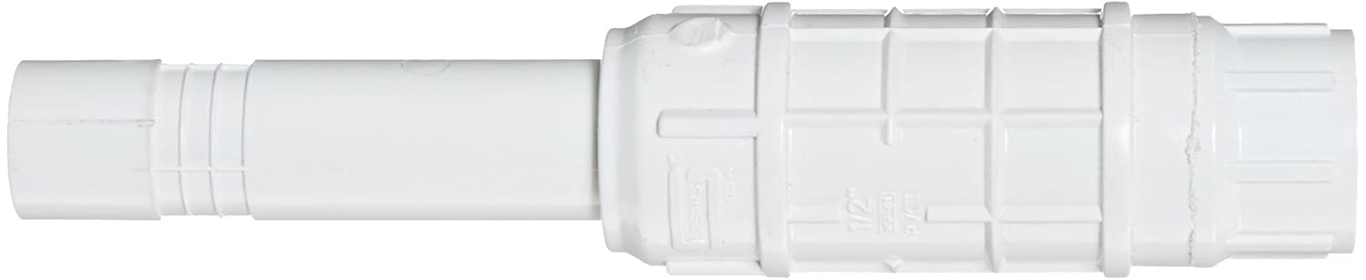 Spears SH118 Series PVC Pipe Fitting 1 Spigot x 1 Socket Short Repair Coupling with EPDM O-ring White
