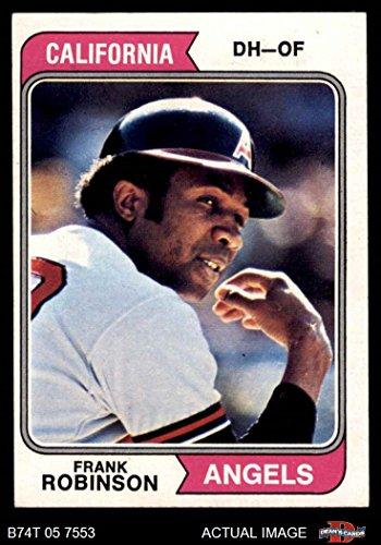 1974 Topps # 55 Frank Robinson Los Angeles Angels (Baseball Card) Dean's Cards 6 - EX/MT - Robinson Frank Baseball Topps