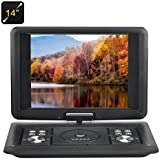 BW Portable DVD Players 14 Inch Portable DVD Player with Copy Function, 270 Degree Rotating Screen, Games, Rechargeable Battery, Supports SD Card and USB, Direct Play in Formats AVI/RMVB/MP3/JPEG