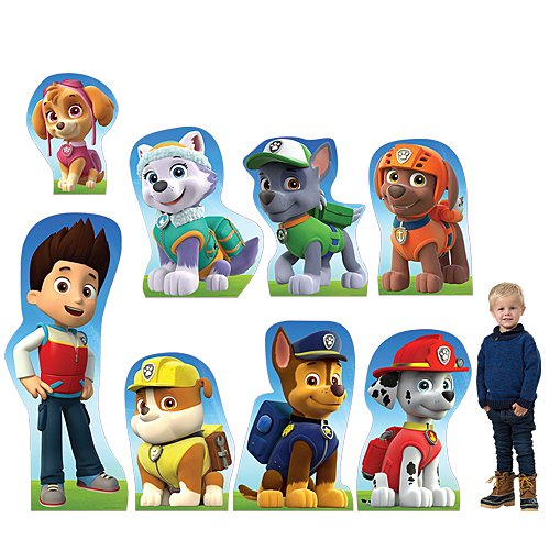 Paw Patrol Character Standee Set Standup Photo Booth Prop Background Backdrop Party Decoration Decor Scene Setter Cardboard Cutout ()