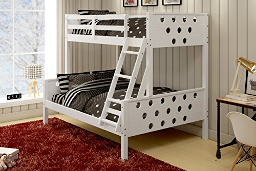 DONCO Kids 1002-TFW Mission Captains Trundle Bed, Twin/Full, ()