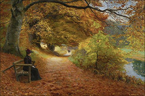 - 24x36 Poster; H. A. Brendekilde - A Wooded Path In Autumn (1902)