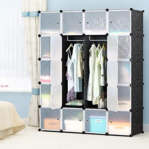 MEGAFUTURE Portable Wardrobe for Hanging Clothes, Combination Armoire, Modular Cabinet for Space...