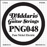 D'Addario PNG048 Pure Nickel Electric Guitar Single String, .048