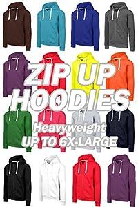 JC DISTRO Mens Hipster Hip Hop Basic Heavyweight Zipup Hoodie Jacket (Size Upto 6XL Plus)