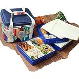 ツェルトコースト ピクニック 保冷バッグ付きファミリー 3段 お弁当箱 ランチボックス MUL