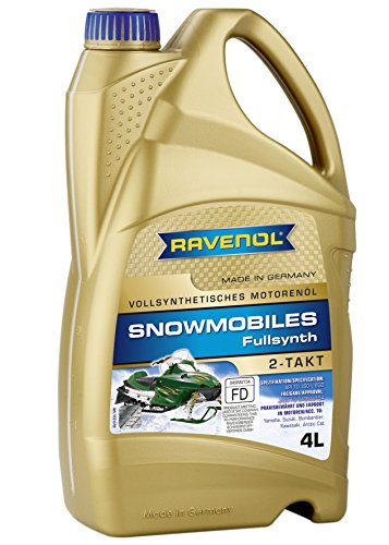 RAVENOL J1V1301 2-Stroke Snowmobile Oil - Full Synthetic JASO FD Spec Oil (4 Liter) ()