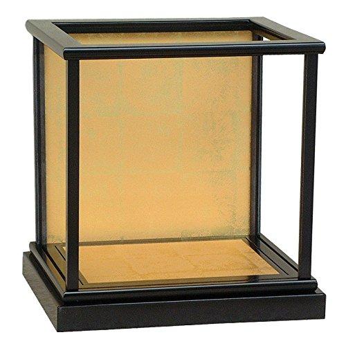 黒塗り木製カブセ人形ケース(ガラスケース) 間口30cm 奥行23cm(受注生産品) (高さ30cm)   B01EN6BH44
