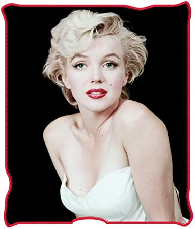 Marilyn in White Dress Micro-Plush Throw Blanket