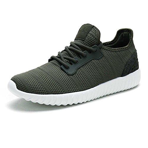 UNMK FUN Women's Fashion Sneakers Running Shoes 9518W02 Walking Shoes (5.5, Khaki)
