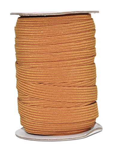 Non Roll Flat (Mandala Crafts Colored Polyester Rubber Braided Flat Elastic Stretch Band Cord Spool Roll for Sewing Clothes Waistbands (1/2 Inch 12mm 20 Yards, Russet Brown))