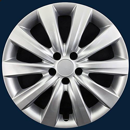 Fits 2011-2014 Toyota Corolla 16' Steel Wheels-Silver Hubcaps CCI