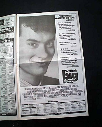 Opening Day Poster (Best BIG & KILLER KLOWNS Movies Opening Day Poster Size ADS 1988 L.A Newspaper LOS ANGELES TIMES, June 3, 1988)