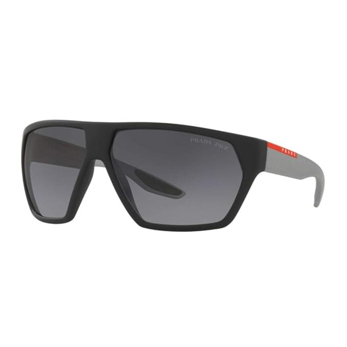 Excelente calidad presentación primer nivel Prada Linea Rossa 0PS 08US Gafas de sol, Black Rubber, 66 ...