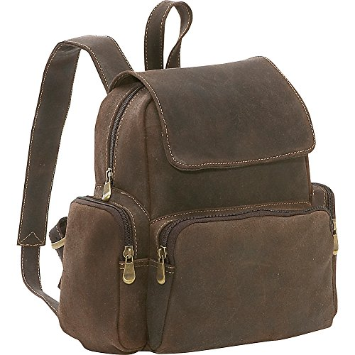 le-donne-leather-distressed-leather-womens-multi-pocket-backpack-chocolate