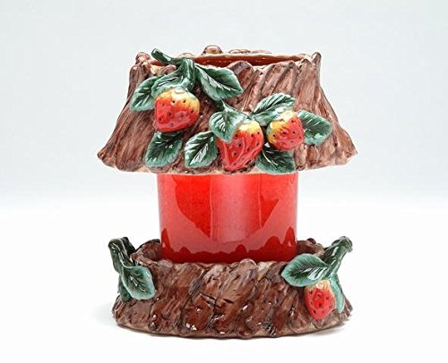 ATD 32419 7.5'' Strawberry Design Oval Jar Shade and Holder by ATD