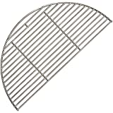 Dracarys 18 Inches Half-Round Cooking Grate,Big Green Egg Accessorie Stainless Steel Cooking Grid Grill Grate for Big Green Egg Large,Kamado Joe Ceramic Grill Weber 18 inch Grill, 18 Inch Diameter