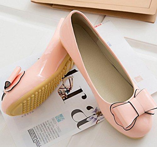 Aisun Women's Cute Bowknot Slip On Loafer Flats Pink vpY8NtyLxt