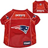 New England Patriots Pet Dog Football Jersey Alt. Red MEDIUM
