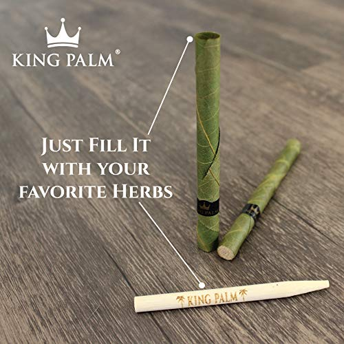 Organic Pre Rolls, Tobacco & Chemical Free, Super Slow Burning, 100% Real Palm Leaf, Just Fill It (180 Slim Rolls) by King Palm (Image #2)