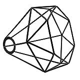"Vintage Cage Lampshade, Motent Industrial Retro Metal Bird Cage Edison Bulb Guard, Iron Wrought 1-Light Lamp Holder, Creative DIY Lighting Fixture, 6.2"" Dia for Pendant Light Wall Lamp - Diamond Shape"