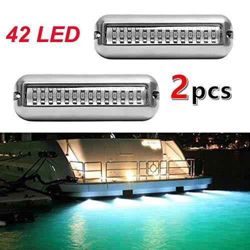 VOFONO 1Pair Upgrade 27LED to 42 LED 12V 304 Stainless