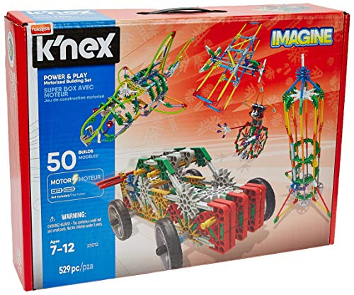 K'NEX Imagine – Power and Play Motorized Building Set – 529 Pieces – Ages 7 and Up – Construction Educational Toy from K'NEX