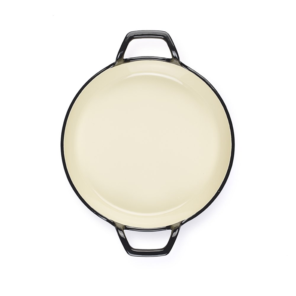 Essenso Grenoble 3 Layer Enameled Cast Iron Egg and Omelet Pan with Ceramic Coating, 6.3'', Cherry/Cream by ESSENSO (Image #4)