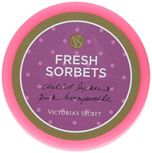 Victoria's Secret Fresh Sorbets Chilled Lychee & Pink Honeysuckle for Women Whipped Body Souffle, 6.5 Ounce - Fresh Sorbet