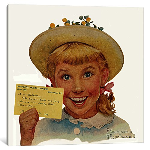 iCanvasART 1-Piece Portrait of Barbara Sullivan Canvas Print by Norman Rockwell, 37