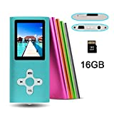 RHDTShop MP3 MP4 Player with a 16 GB Micro SD card, Support UP to 32GB TF Card, Portable Digital Music Player / Video / Media Player / FM Radio / E-Book Reader, 1.7