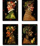 Spring, Summer, Autumn and Winter by Giuseppe Arcimboldo 4-pc Premium Gallery-Wrapped Canvas Giclee Art Set (Ready to Hang)