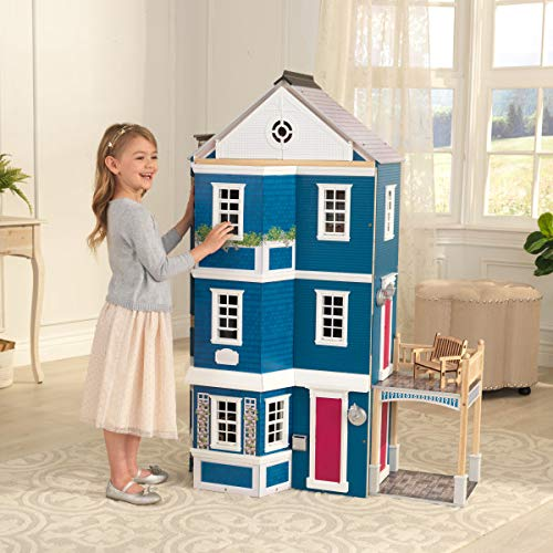 51wUpv%2BIPFL - KidKraft So Chic Dollhouse with Furniture