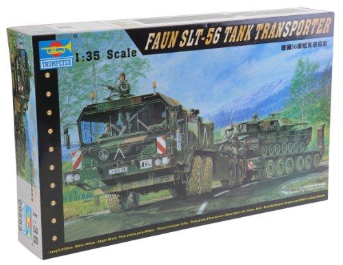 Trumpeter 00203 Modellbausatz FAUN Elefant SLT-56 Panzer-Transporter
