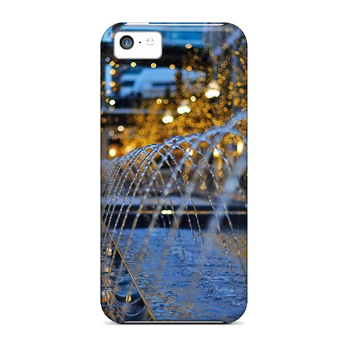 Huoner Perfect Tpu Case For Iphone 5c/ Anti-scratch Protector Case (city Creek - City Center Creek