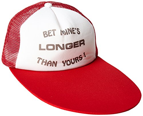 Jacobson Hat Company Men's Bet Mine's Longer Cap, Red, Adult (Camp Counselor Costume)