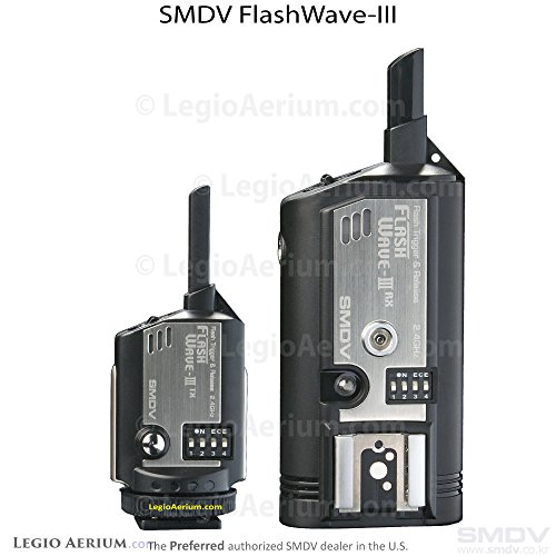 FlashWave3 Wireless Radio Slave Hot Shoe Remote Wireless Flash Trigger System - Transmitter and Receiver Set by SMDV