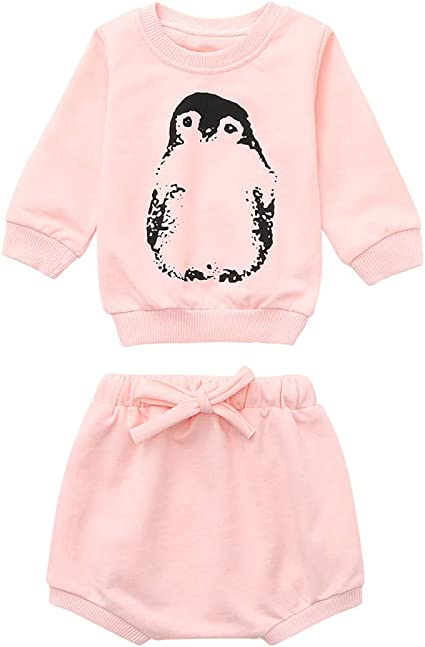 Newborn Baby Boy Girl Clothes Hoodies Tops Coat Pants Casual Outfit Set 3-24 M